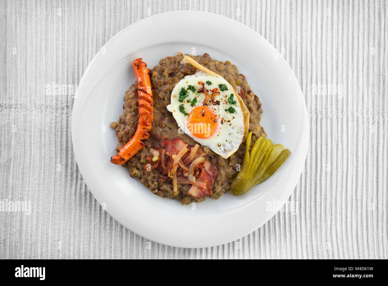 Freshly cooked lentils Stock Photo