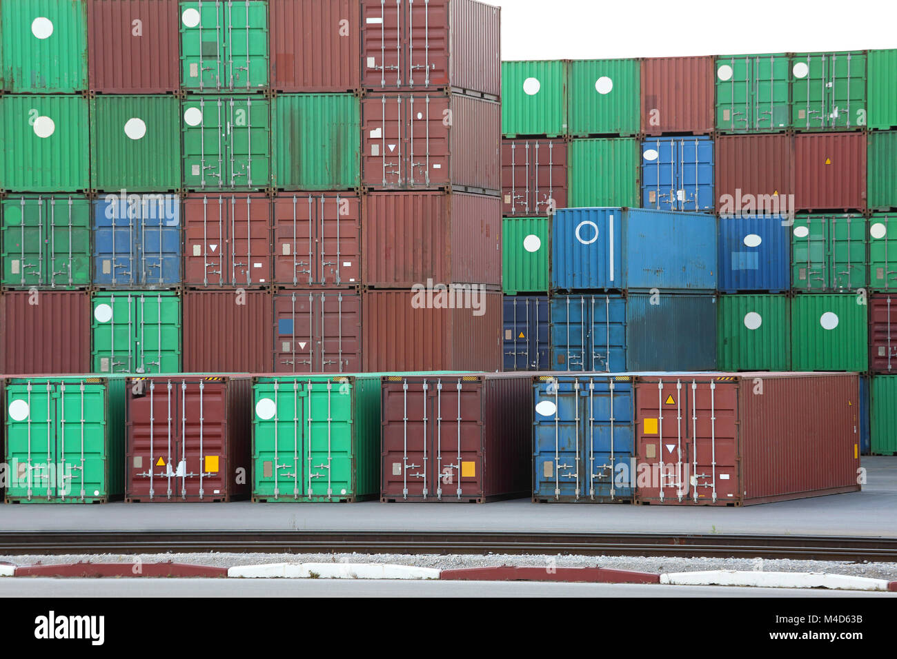 Intermodal Containers - Stock Image