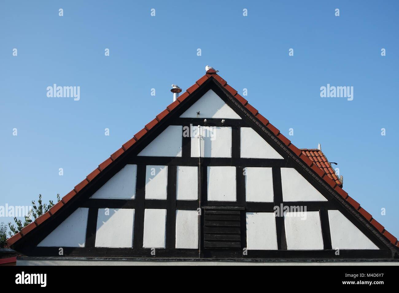 Half-timbered house gable - Stock Image