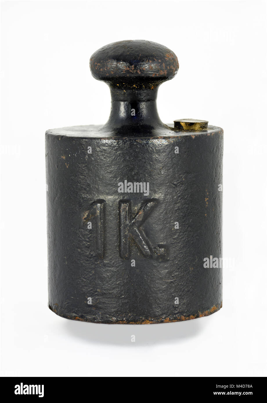 old black weight of one kilogram Stock Photo