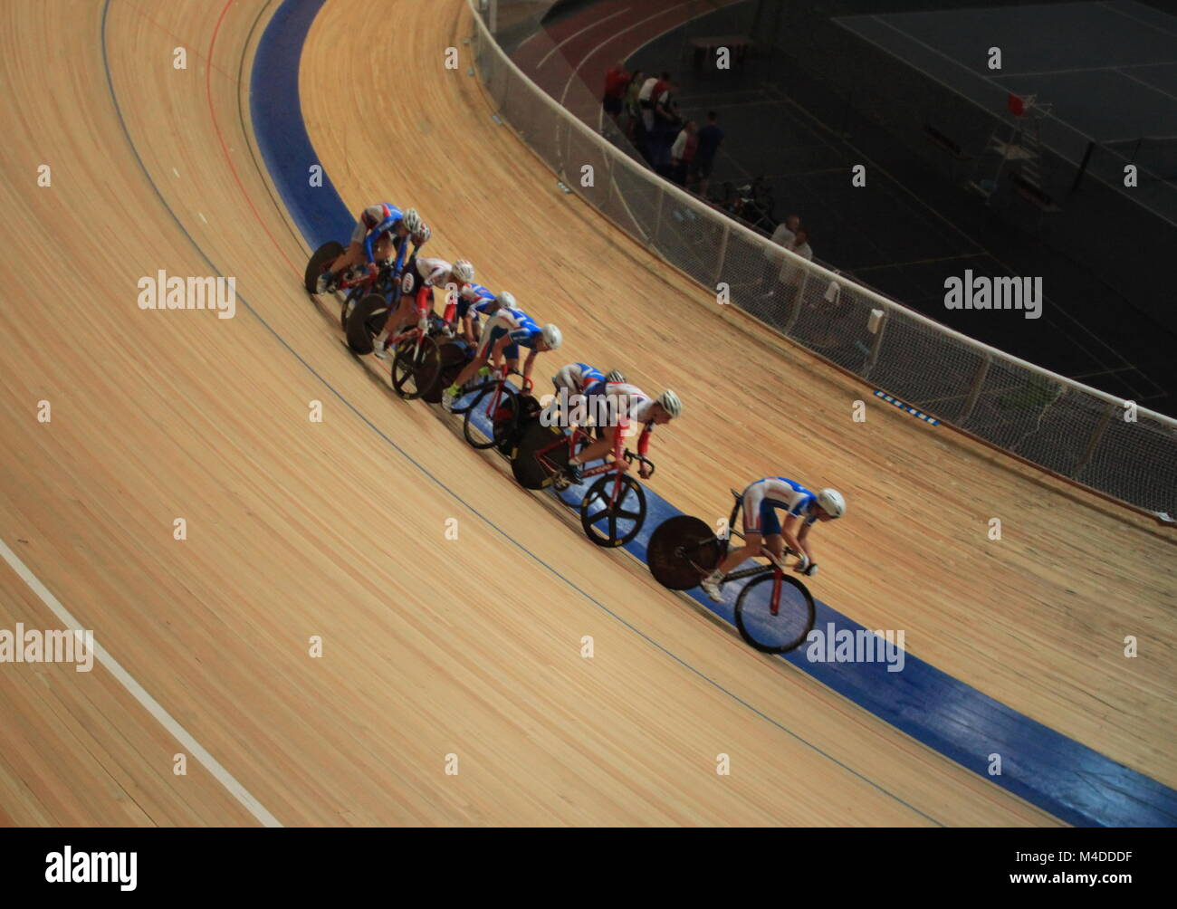 pursuit Cycling tilt shot - Stock Image