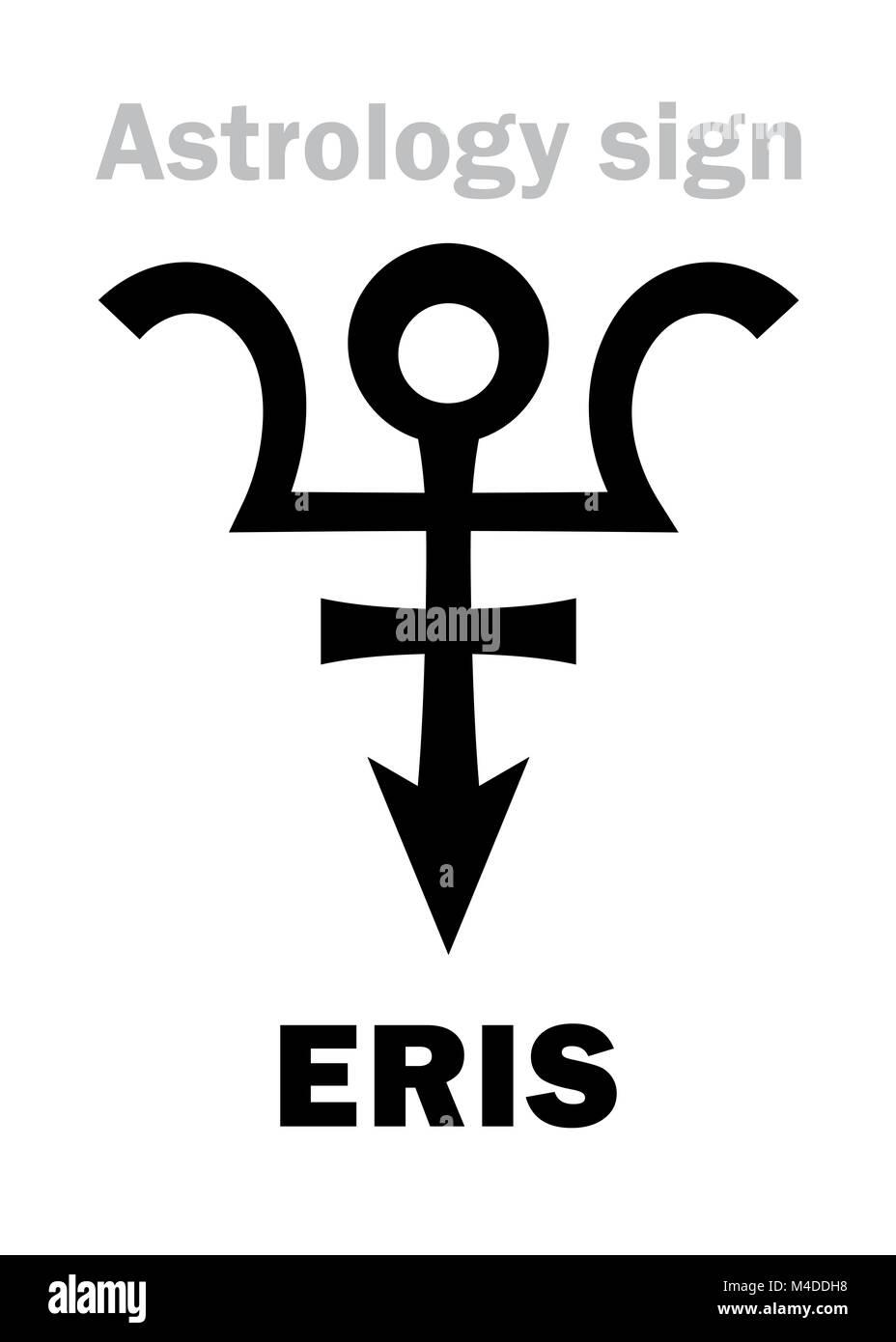 Astrology: planet ERIS - Stock Image
