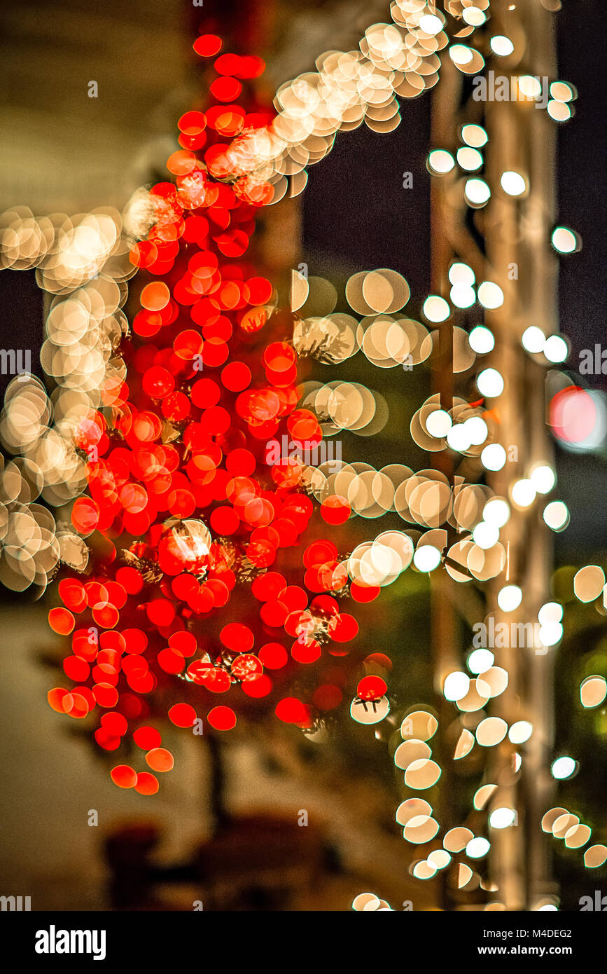 outdoor christmas decorations at christmas town usa stock image - Christmas Town Decorations