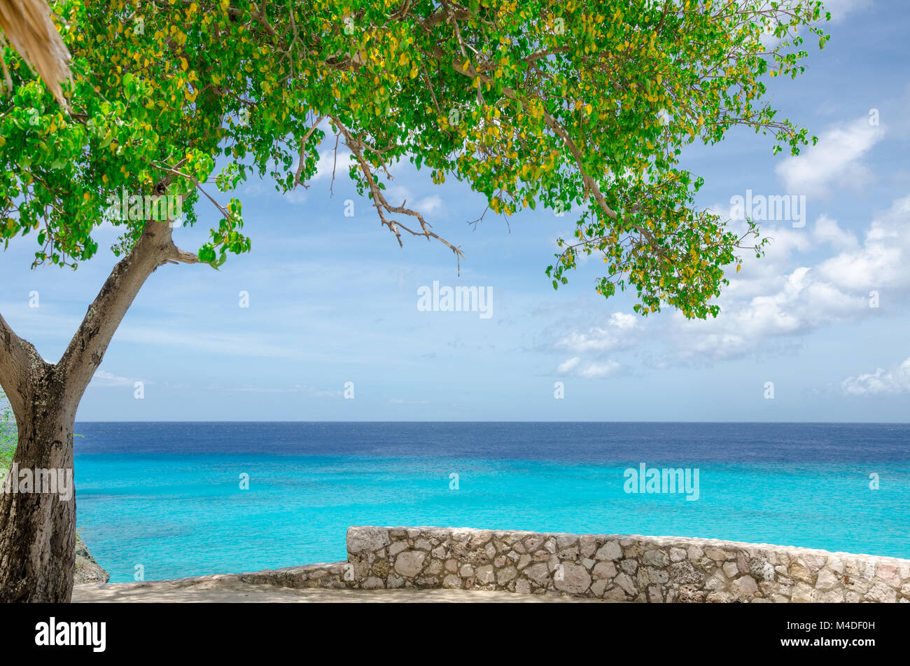 Grand Knip Beach in Curacao at the Dutch Antilles - Stock Image