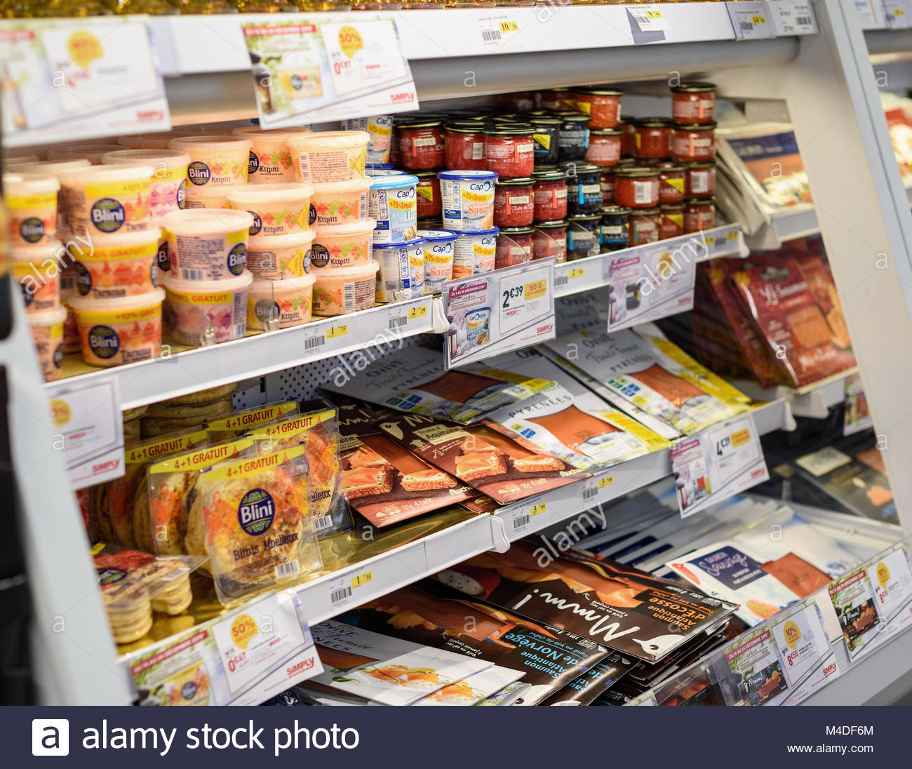 French Supermarkets Stock Photos & French Supermarkets Stock