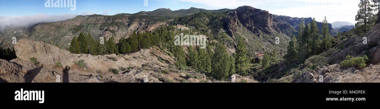 alpine world in landscape park Parque Rural del Nublo Stock Photo