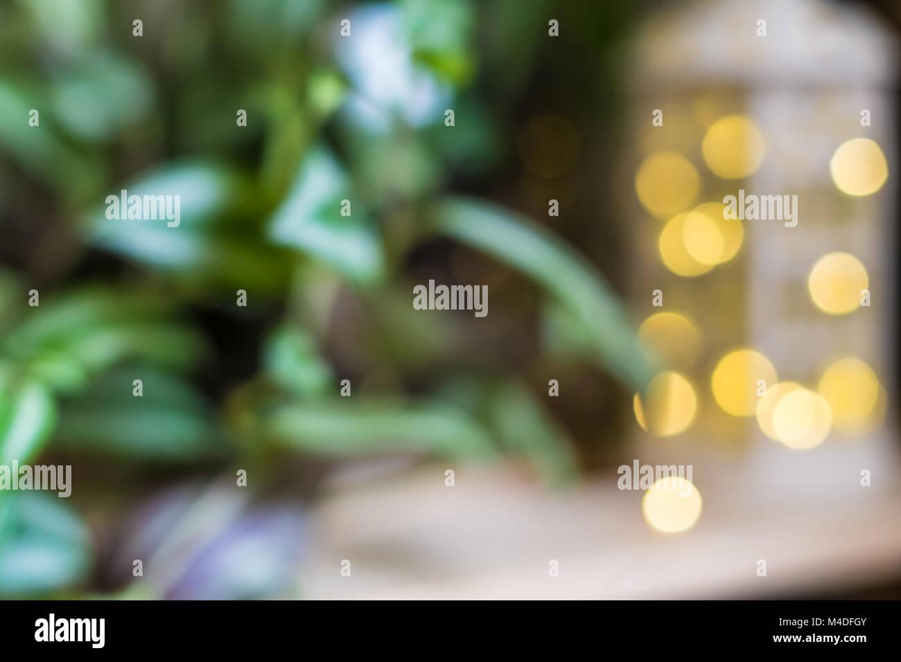 Latern lights unfocused - Stock Image