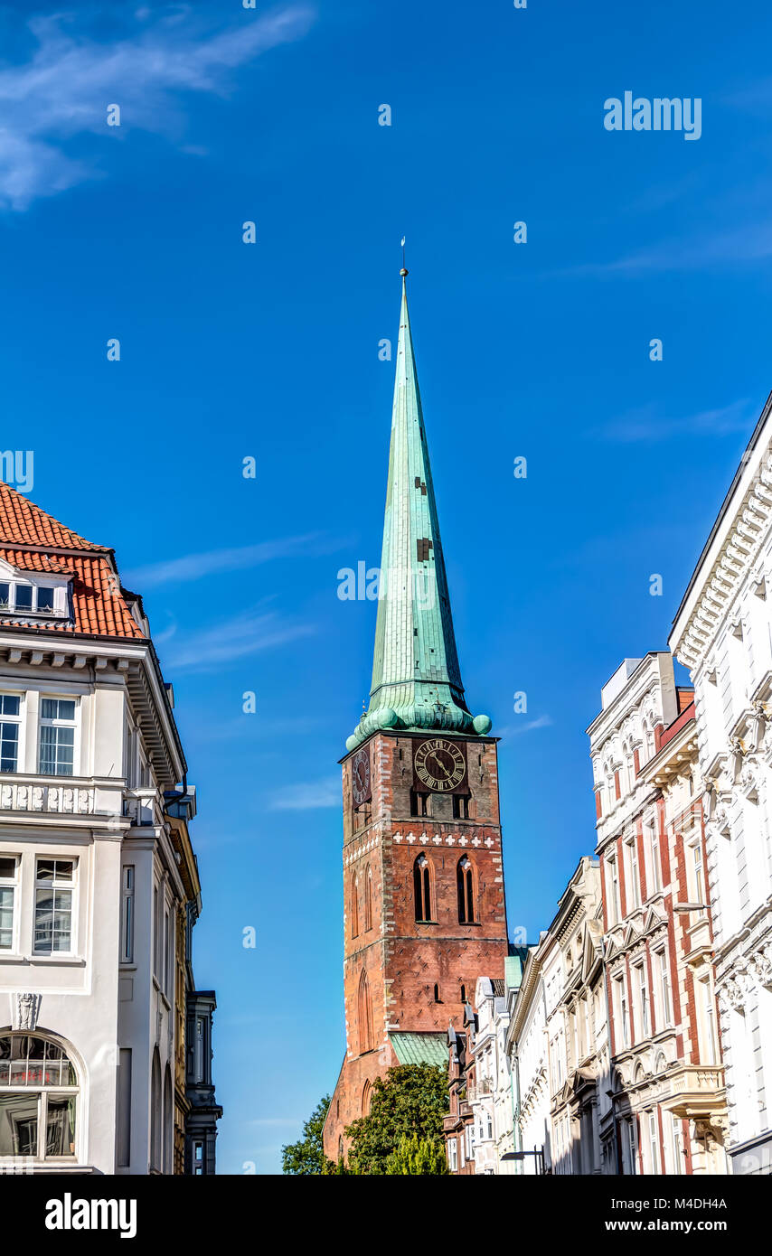 St. Mary's Church in the Hanseatic City of Lubeck Stock Photo