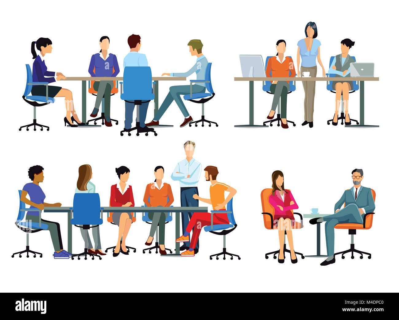 Office Work, workflow, coworkink, Teamwork - Stock Image