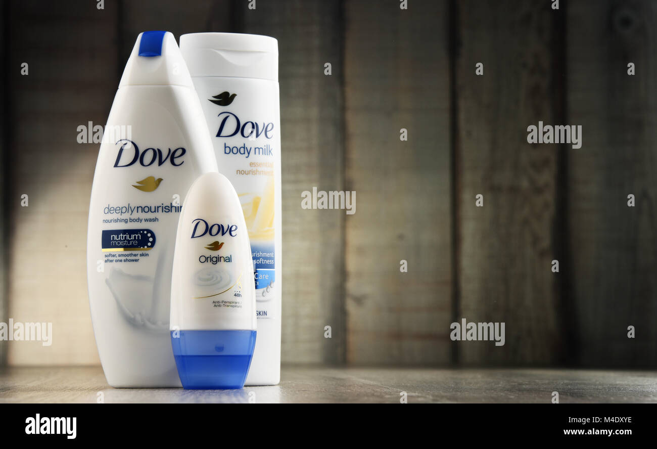 Dove, a personal care brand owned by Unilever - Stock Image