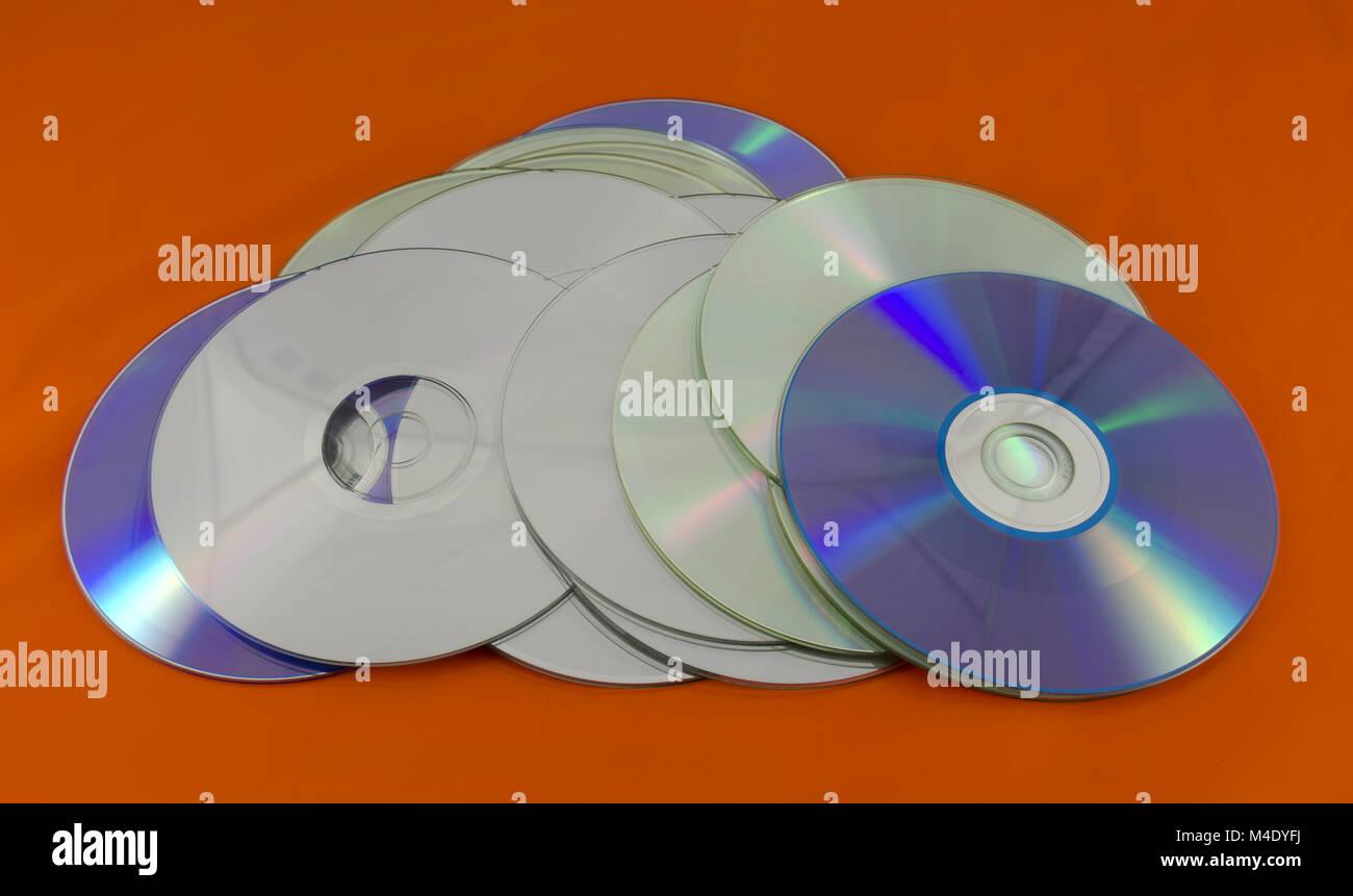 recordable digital optical storage discs - Stock Image