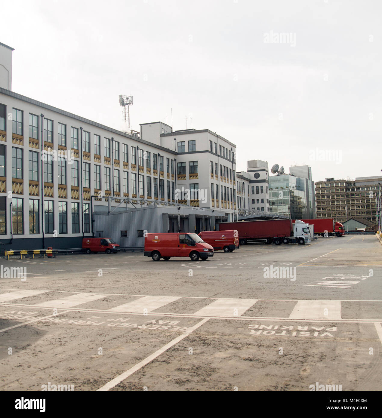 Colour Photograph of Mount Pleasant Sorting Offices, The site has previously operated as one of the largest sorting - Stock Image