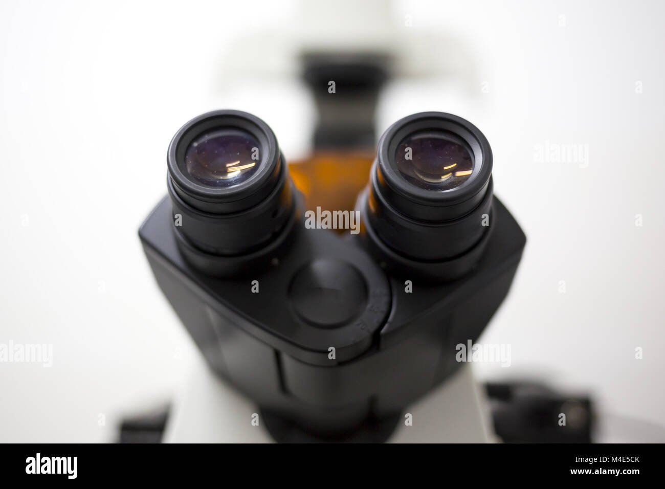 Modern microscope microbiology laboratory - Stock Image