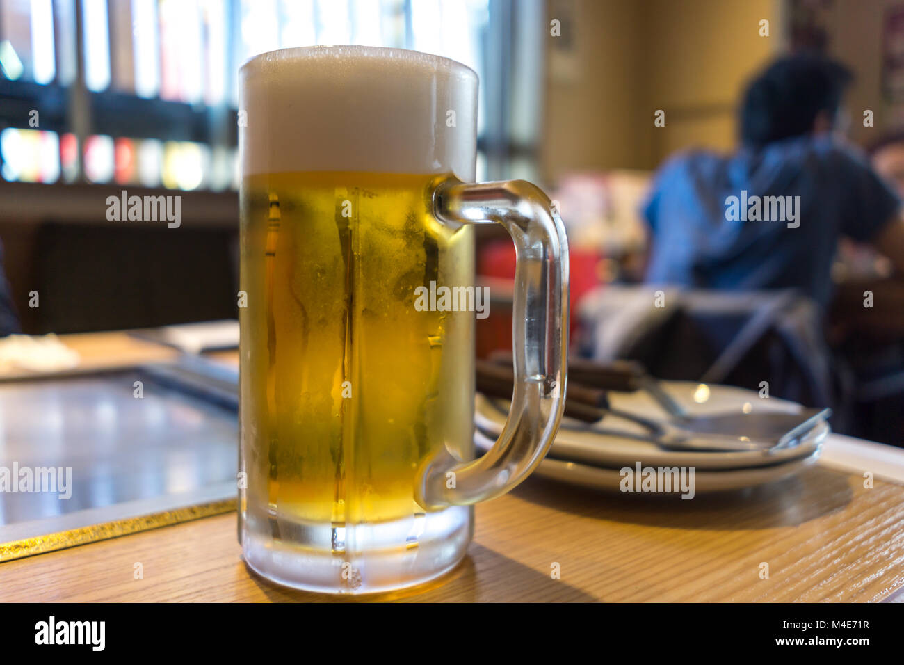 cold draft beer - Stock Image