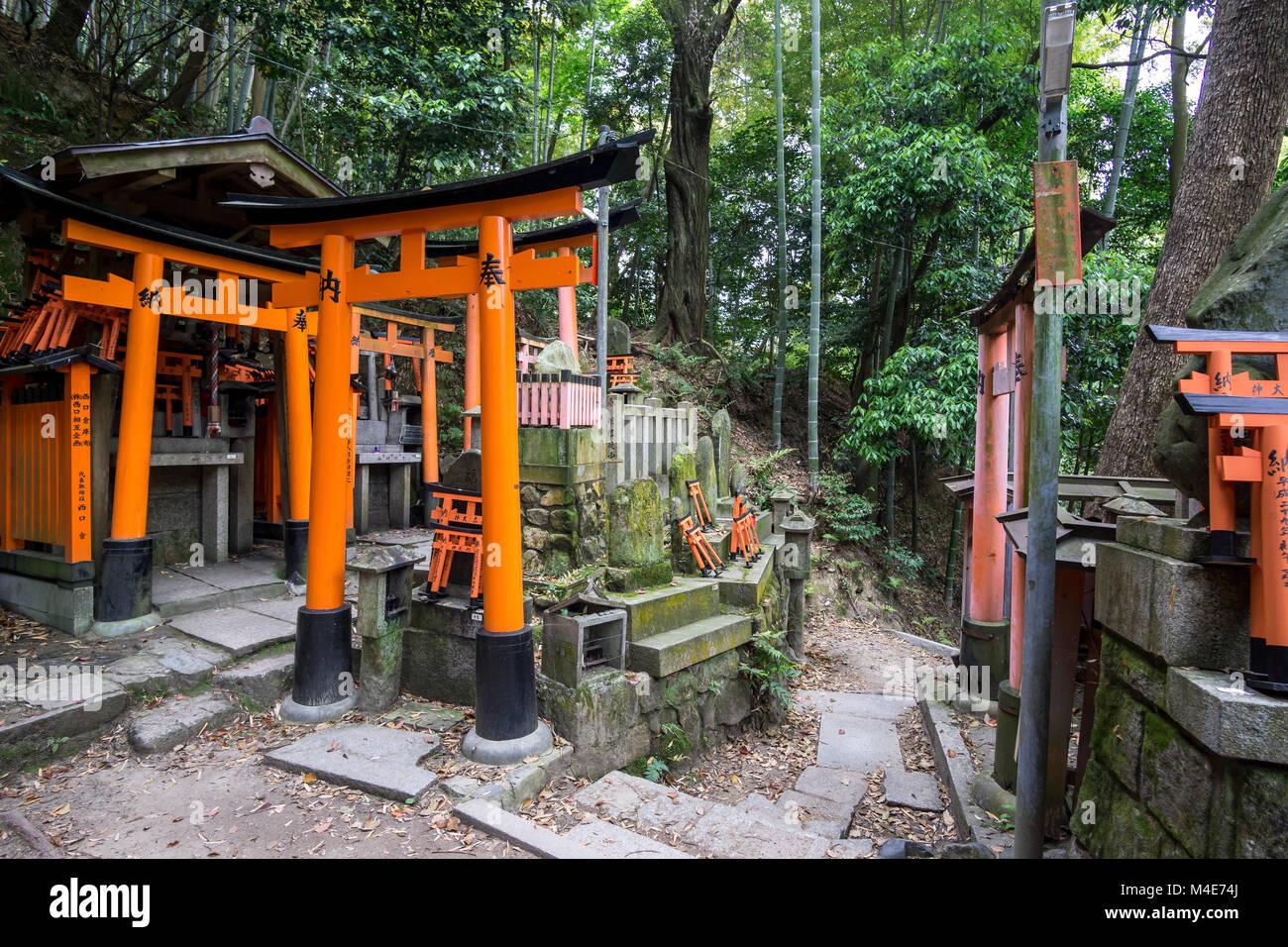 fushimi inari shinto shrine - Stock Image