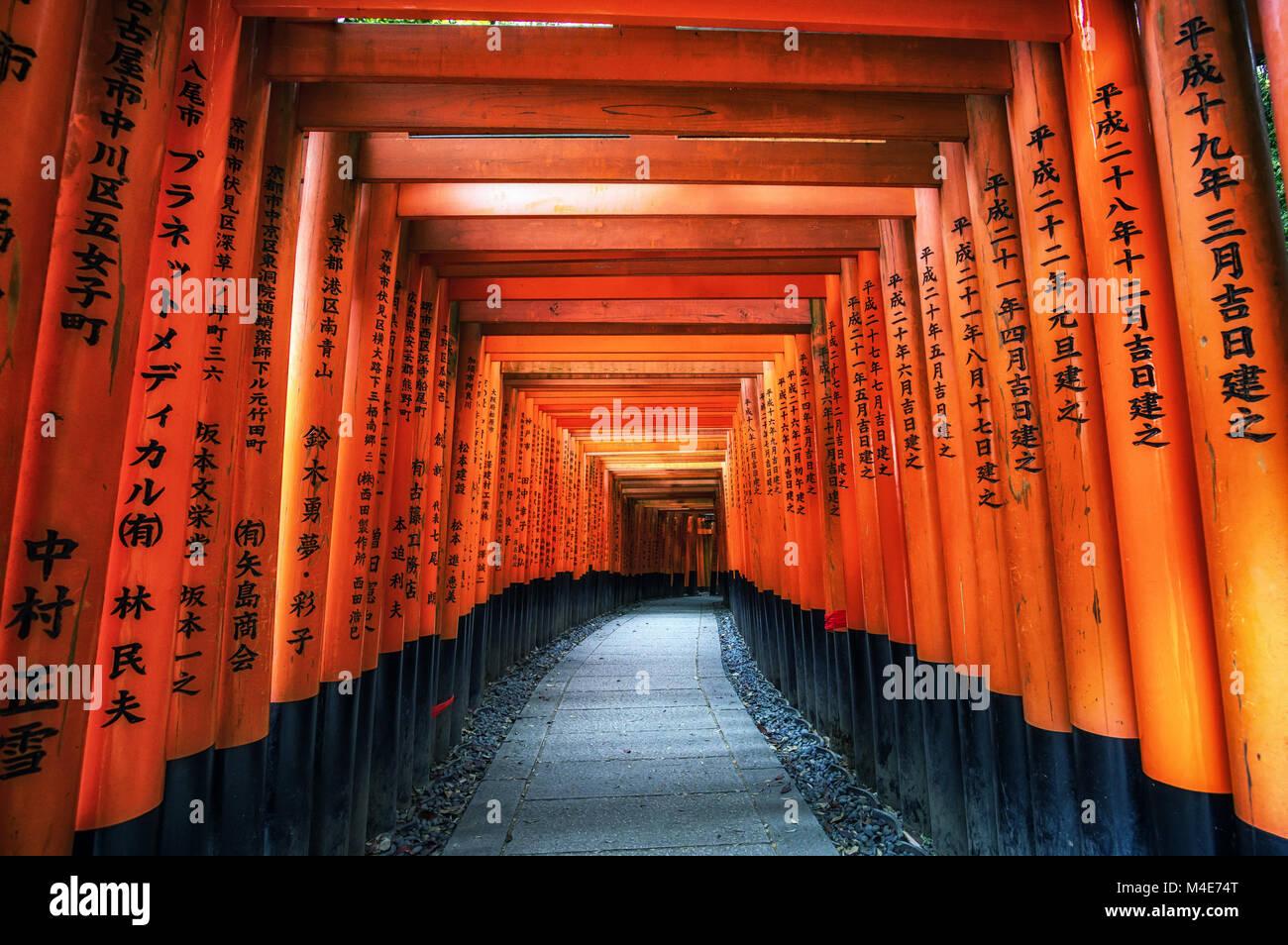fushimi inari taisha gates - Stock Image