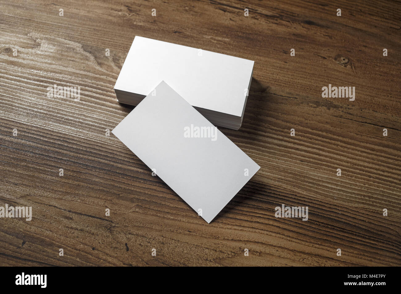White bussiness cards - Stock Image