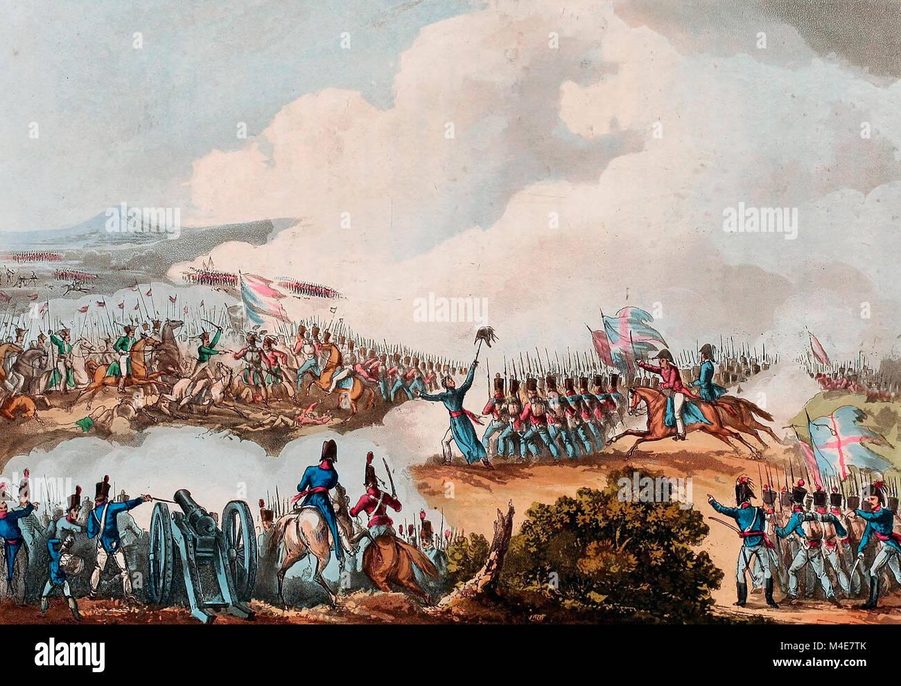 Battle of Albuera - May 16, 1811 - Stock Image