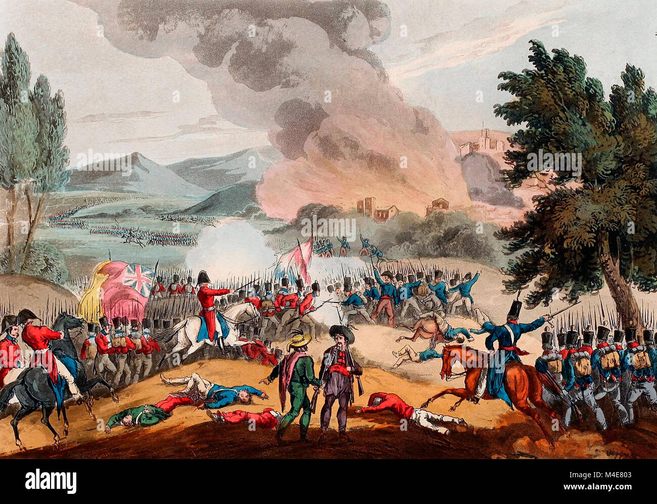 Battle of Pombal - March 12, 1811 - Stock Image