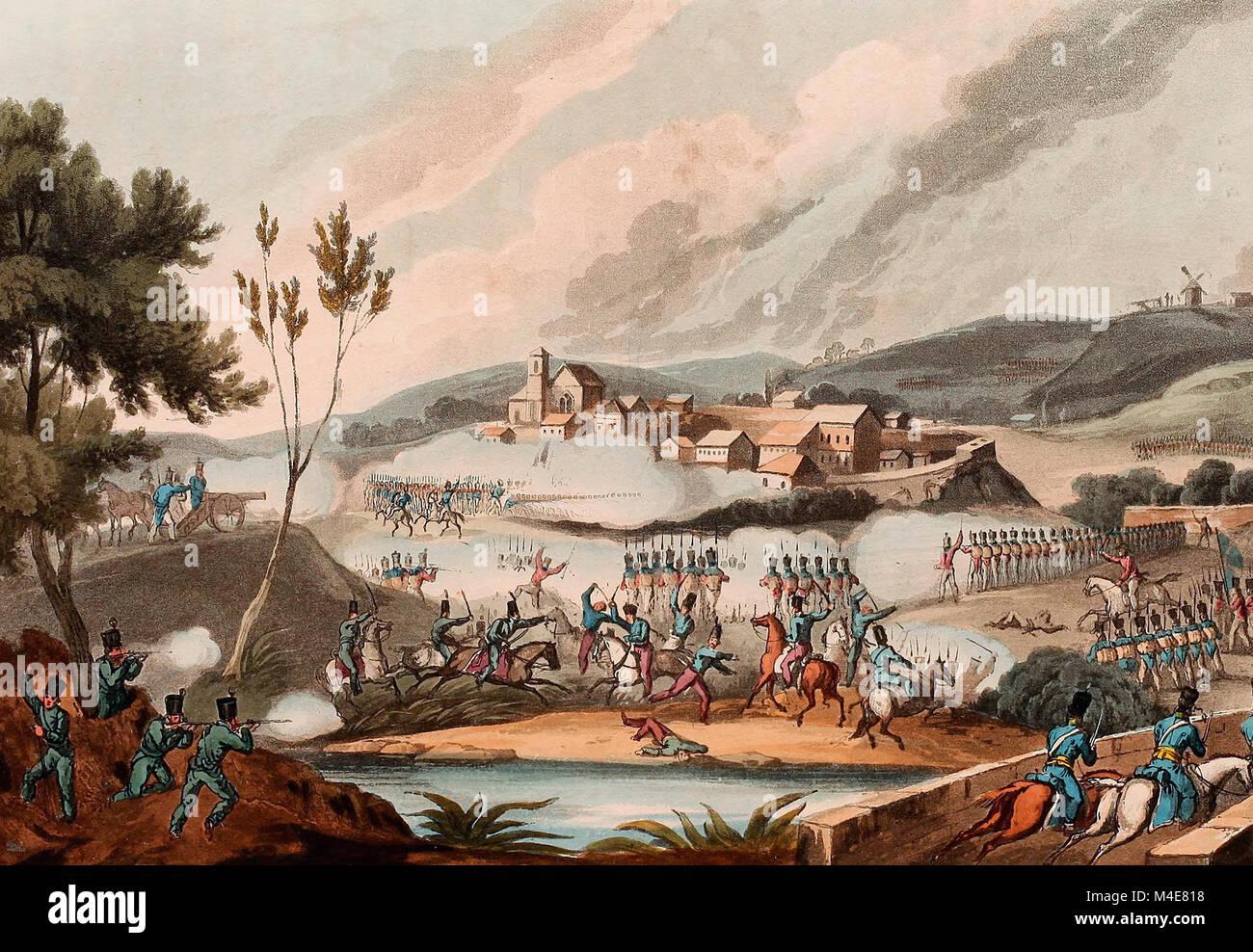 Battle of Vimiero, August 21, 1808 - Stock Image