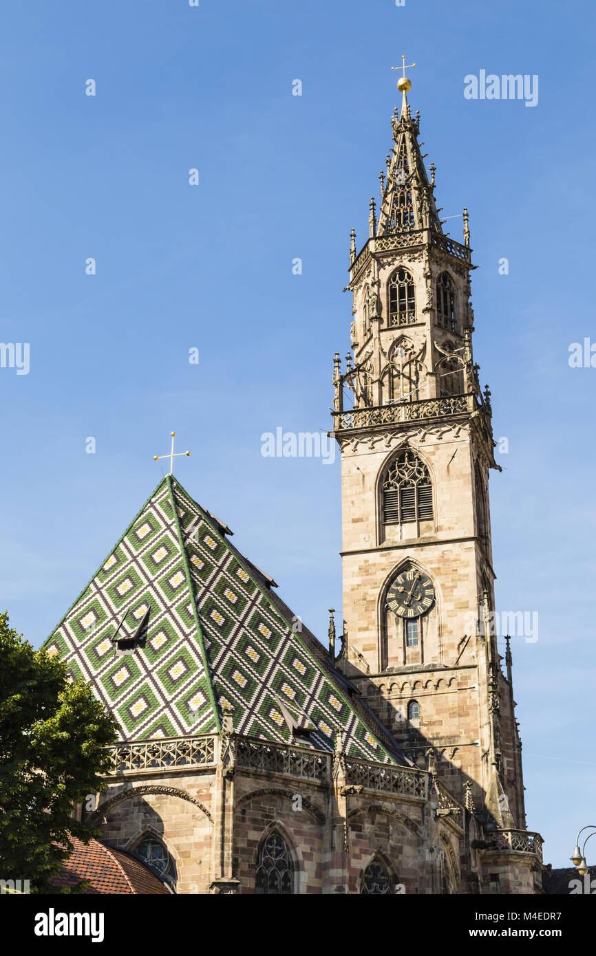 bolzano cathedral, Italy Stock Photo