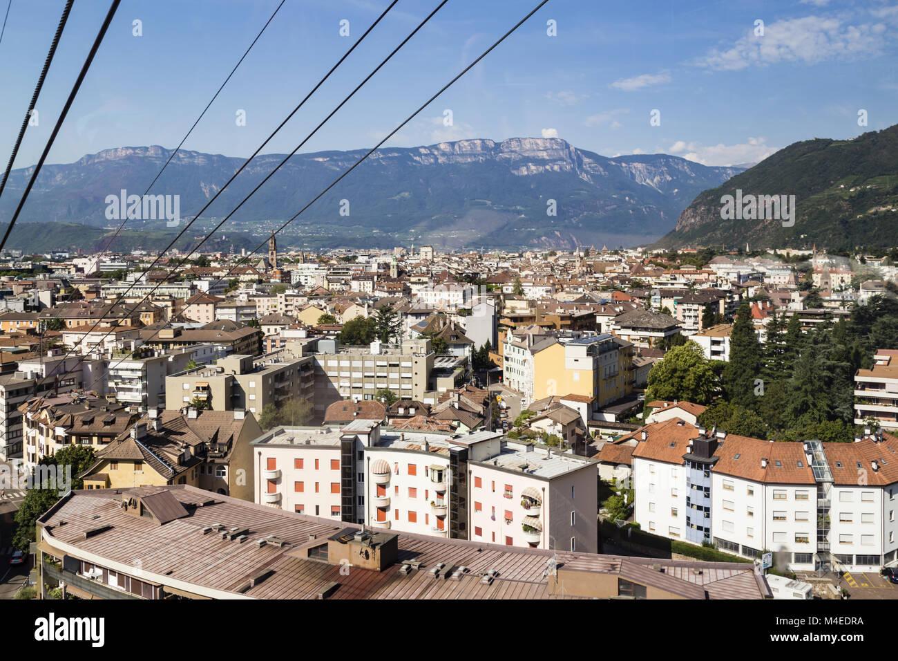 View to Bolzano, South Tyrol, Italy - Stock Image