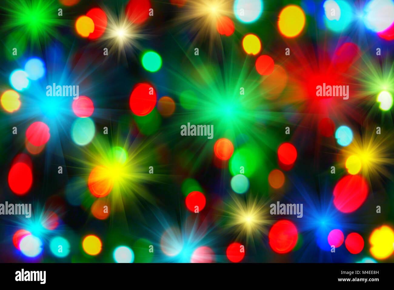 Holiday unfocused lights - Stock Image