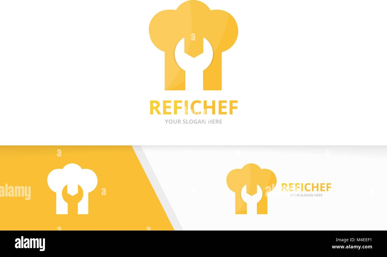Vector of chef hat logo combination. Kitchen and repair symbol or ...