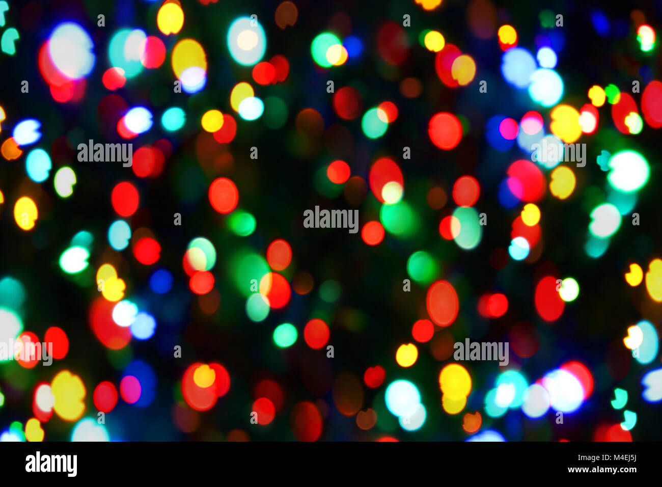 Holiday color unfocused lights - Stock Image