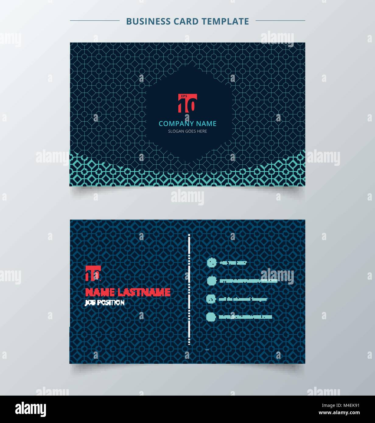 Creative business card and name card template dark blue color modern ...