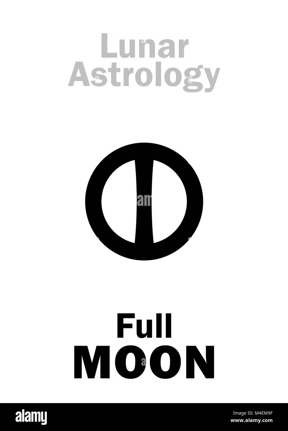 Astrology: Full MOON - Stock Image
