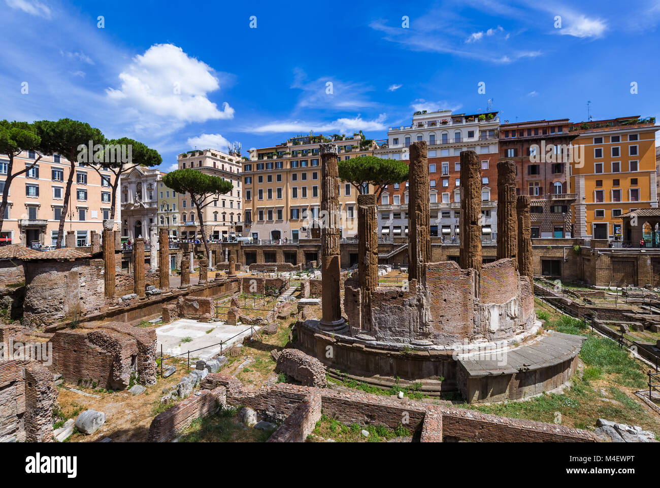 Area Sacra ruins in Rome Italy - Stock Image