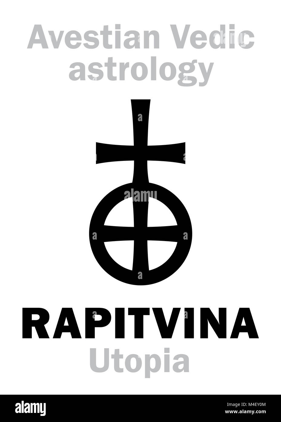 Astrology: astral planet RAPITVINA (Utopia) - Stock Image