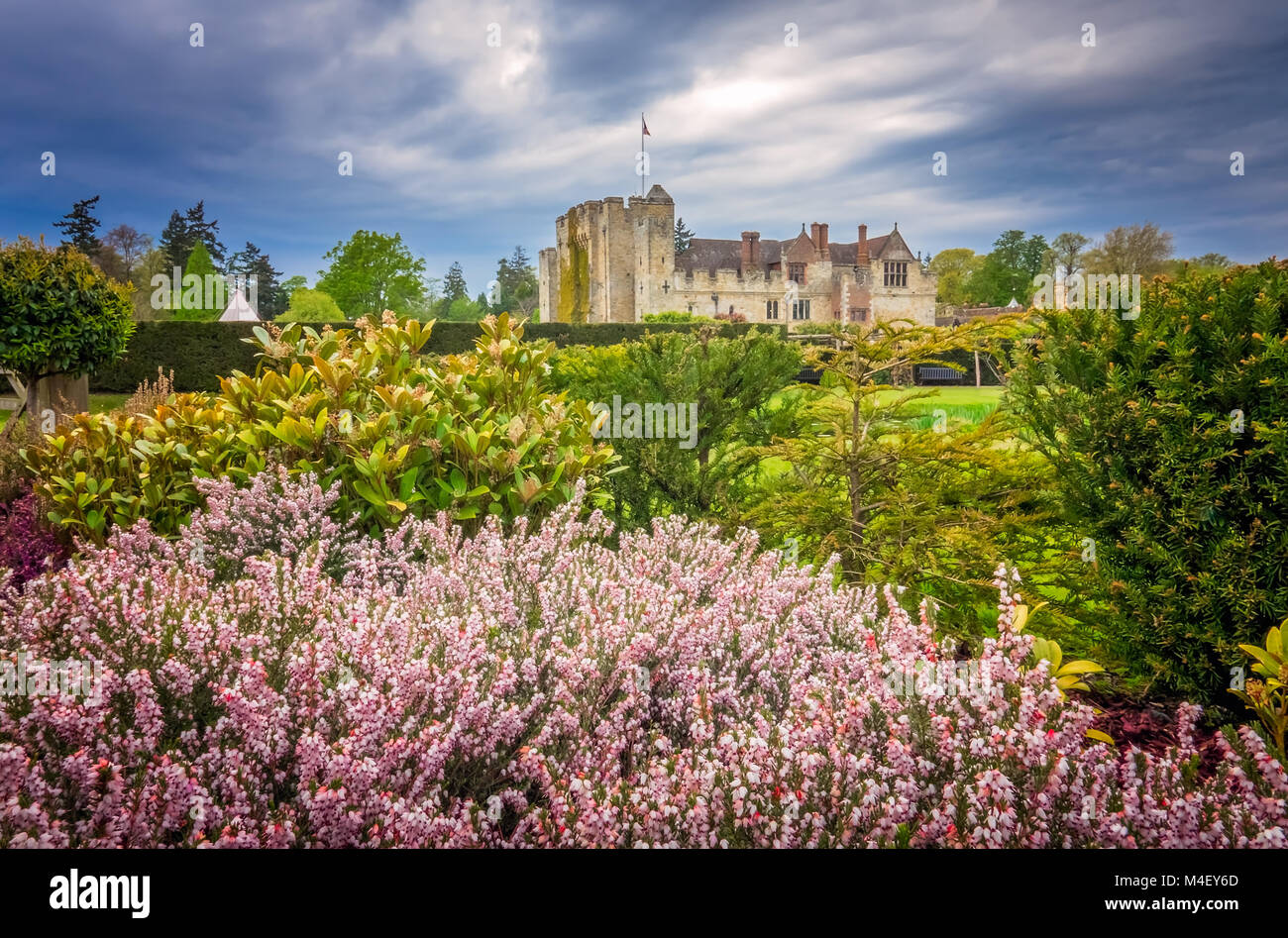 Hever Castle and gardens in Kent - Stock Image