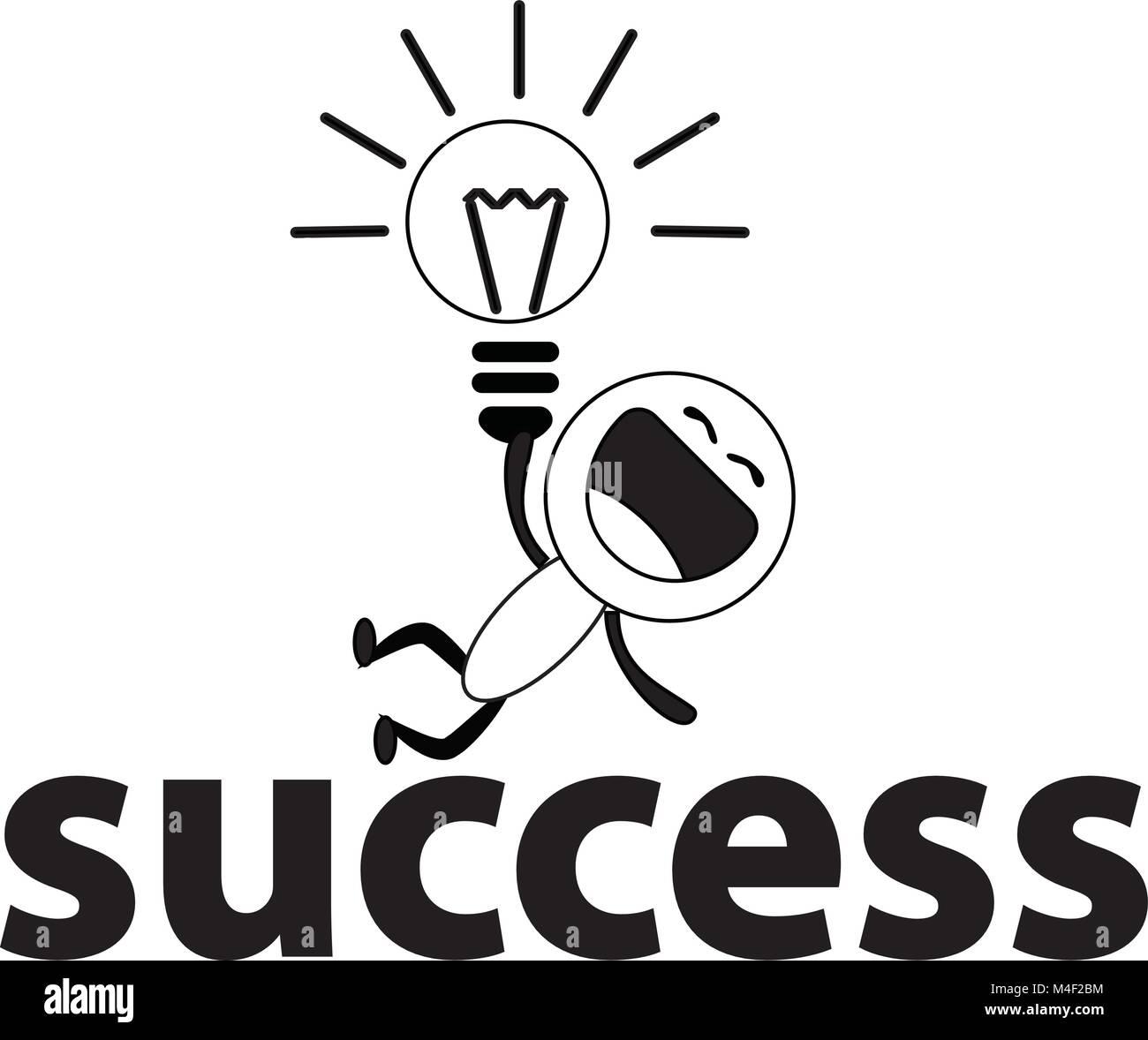 colorful happy cartoon get idea on success vector drawing concept stock vector image art alamy https www alamy com stock photo colorful happy cartoon get idea on success vector drawing concept 174893480 html