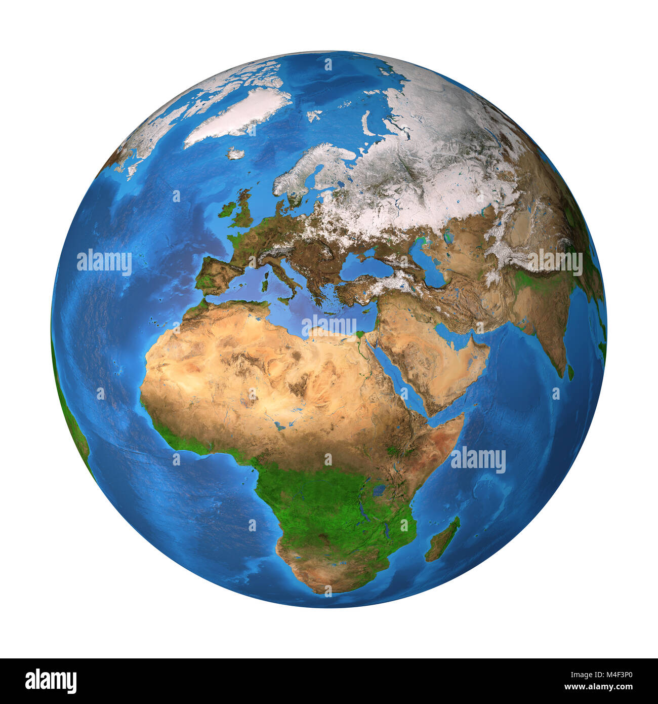 Realistic Satellite View Of Planet Earth In High Resolution Focused