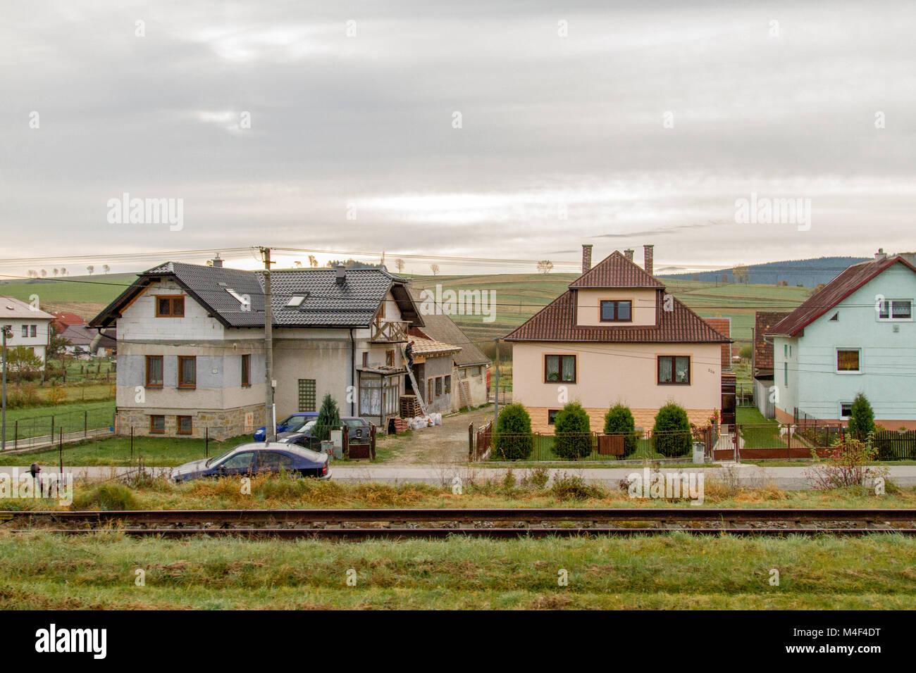 Village Idyll in Slovakia - Stock Image