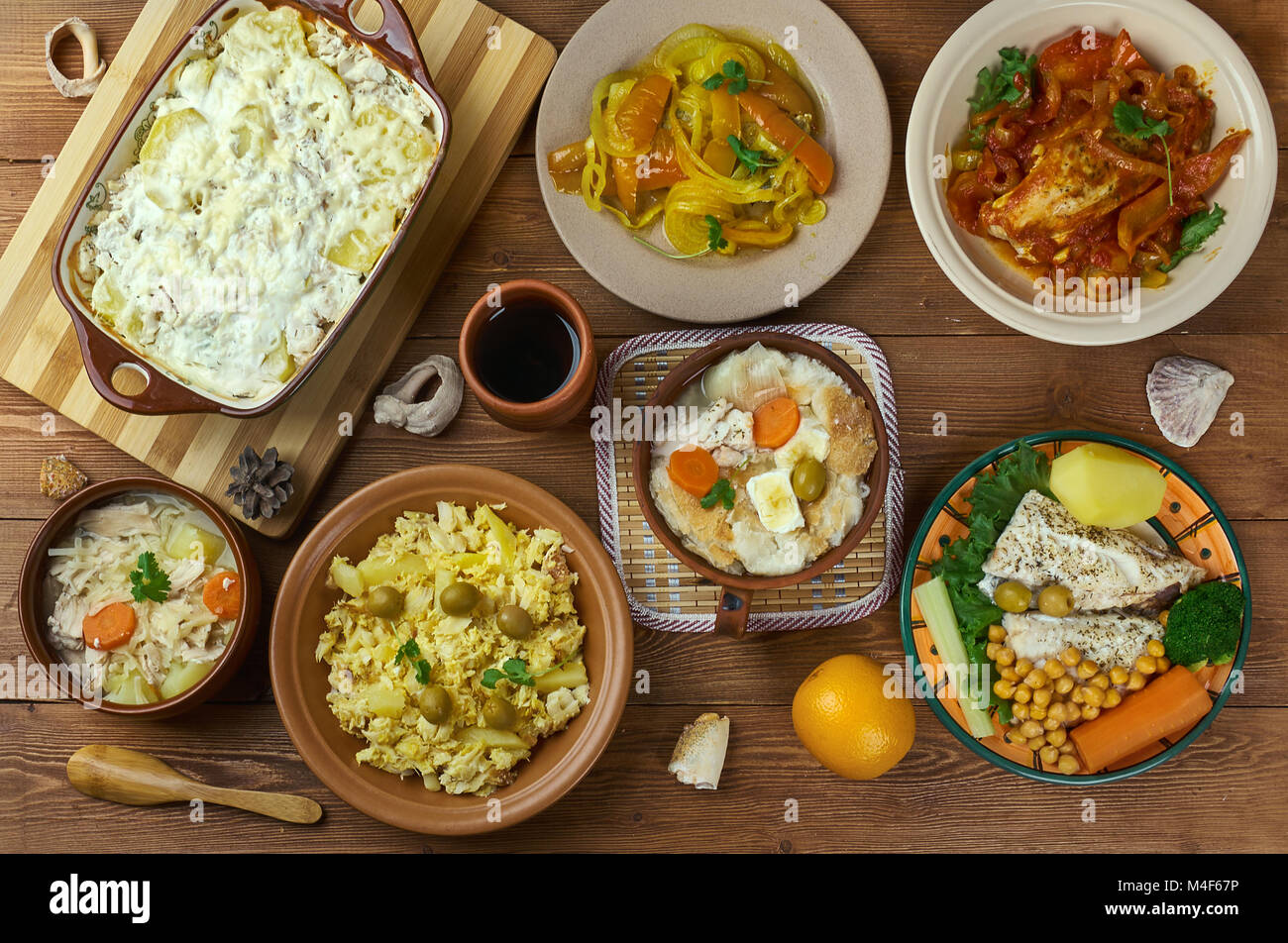 Portuguese cuisine - Traditional assorted Portugal dishes, Top