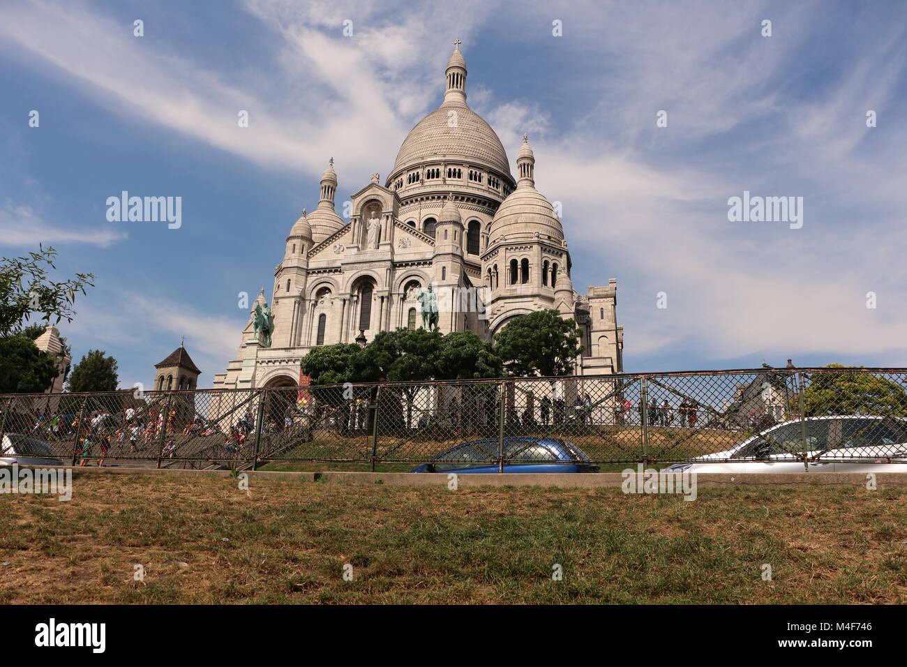 Basilique du Sacre Coeur in Montmartre, Paris, France - Stock Image