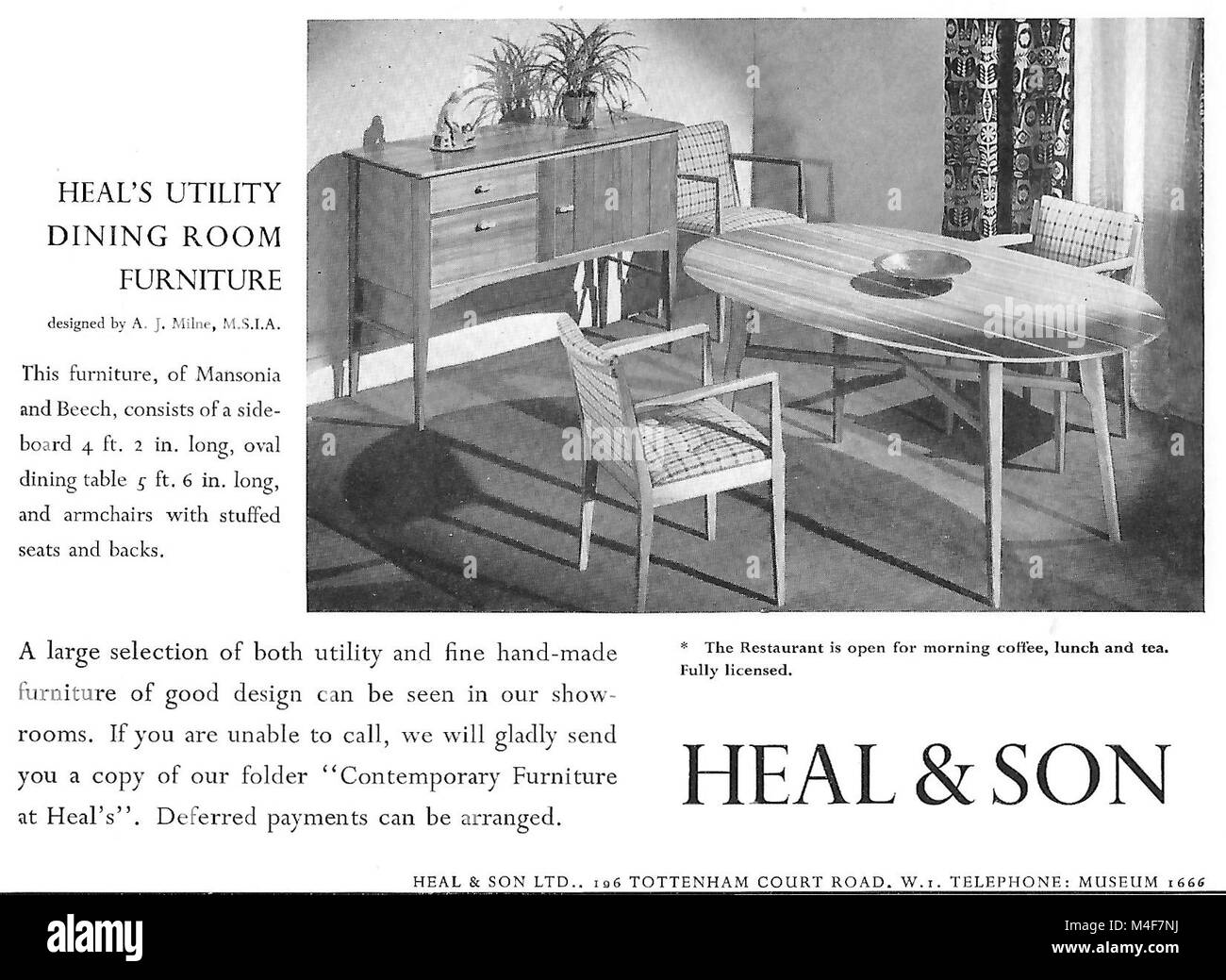 heal son furniture advert advertising in country life magazine uk