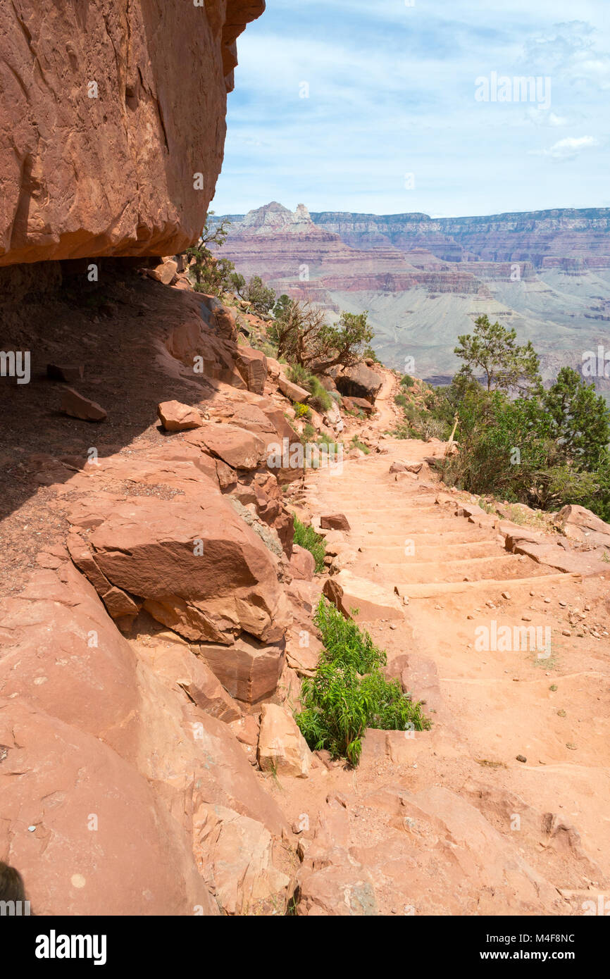 Descending the Kaibab trial - Stock Image