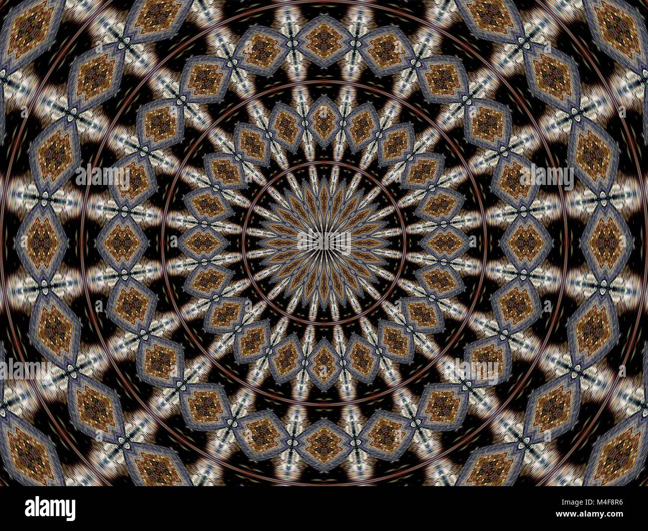 Kaleidoscope in brown tones - Stock Image