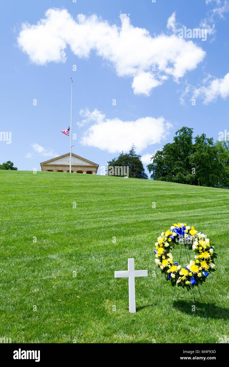 RFK grave in DC - Stock Image