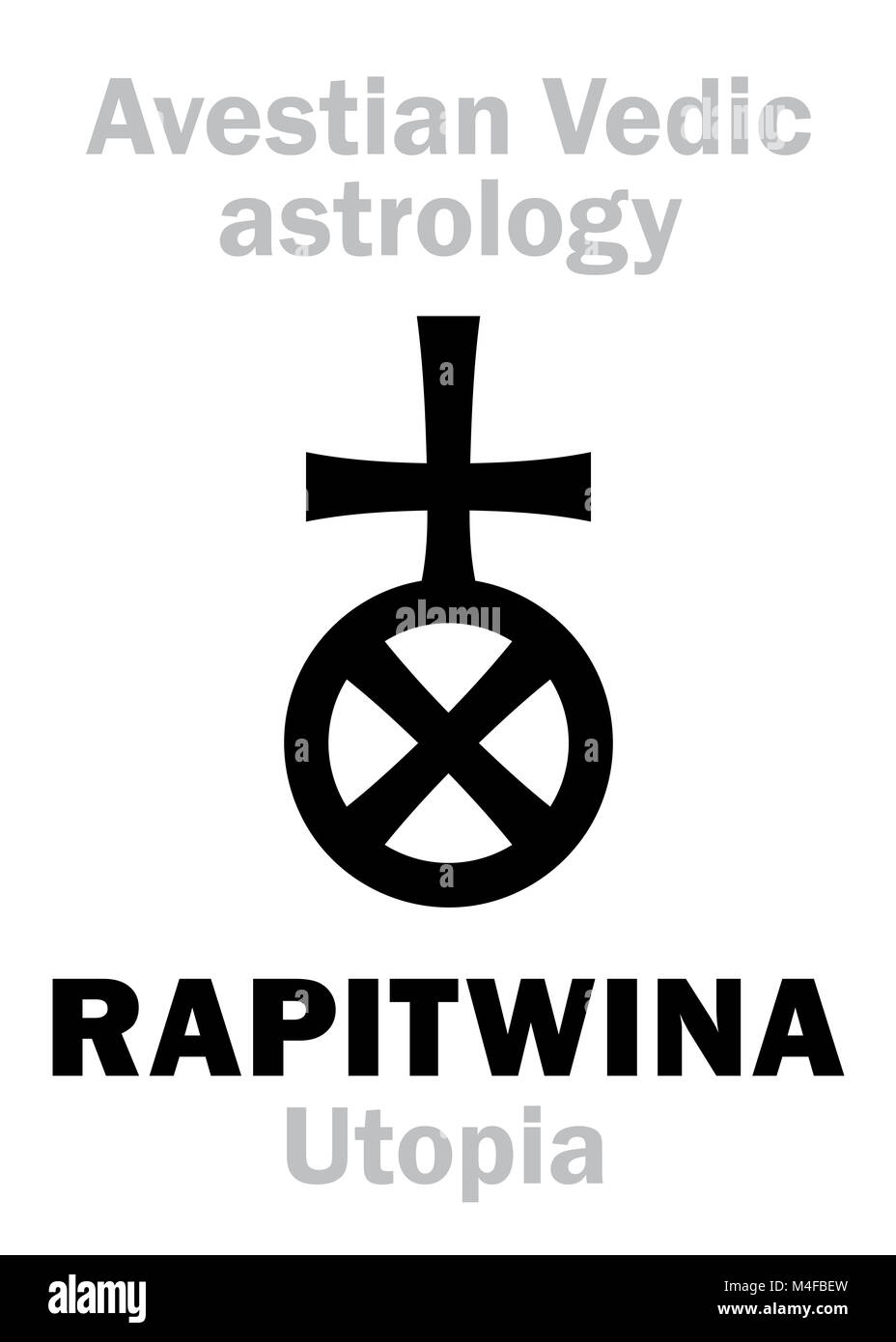 Astrology: astral planet RAPITWINA (Utopia) - Stock Image