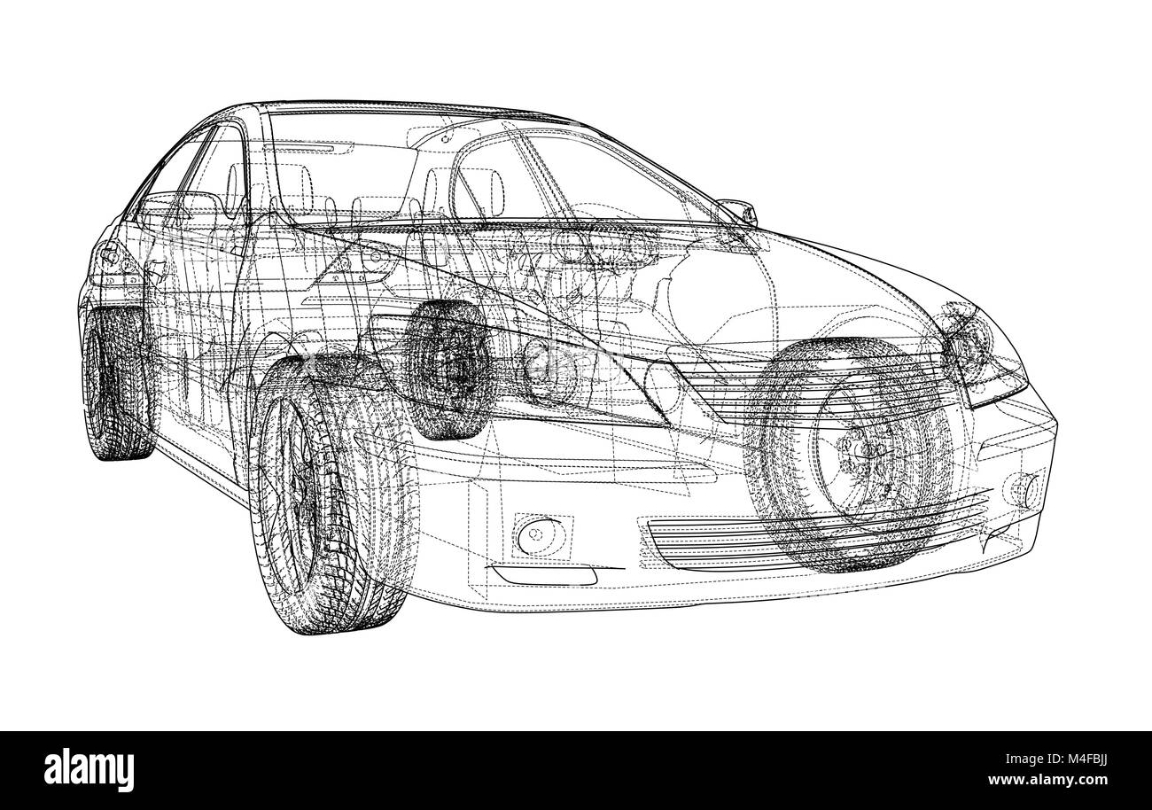 Car sketch. Vector Stock Vector Art & Illustration, Vector Image ...