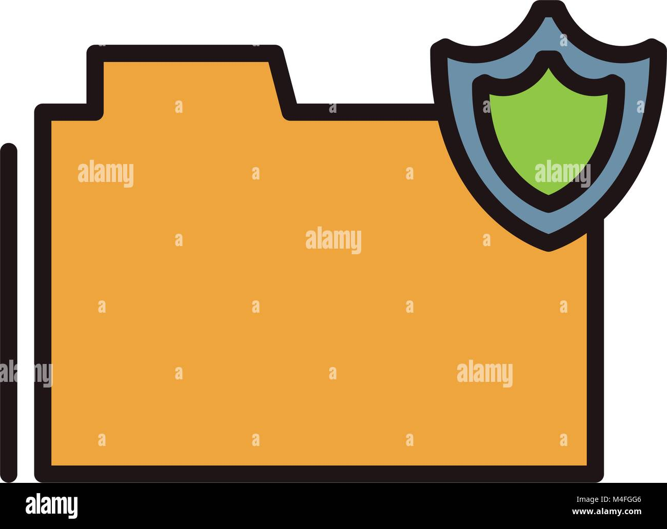 Secure folder symbol - Stock Image
