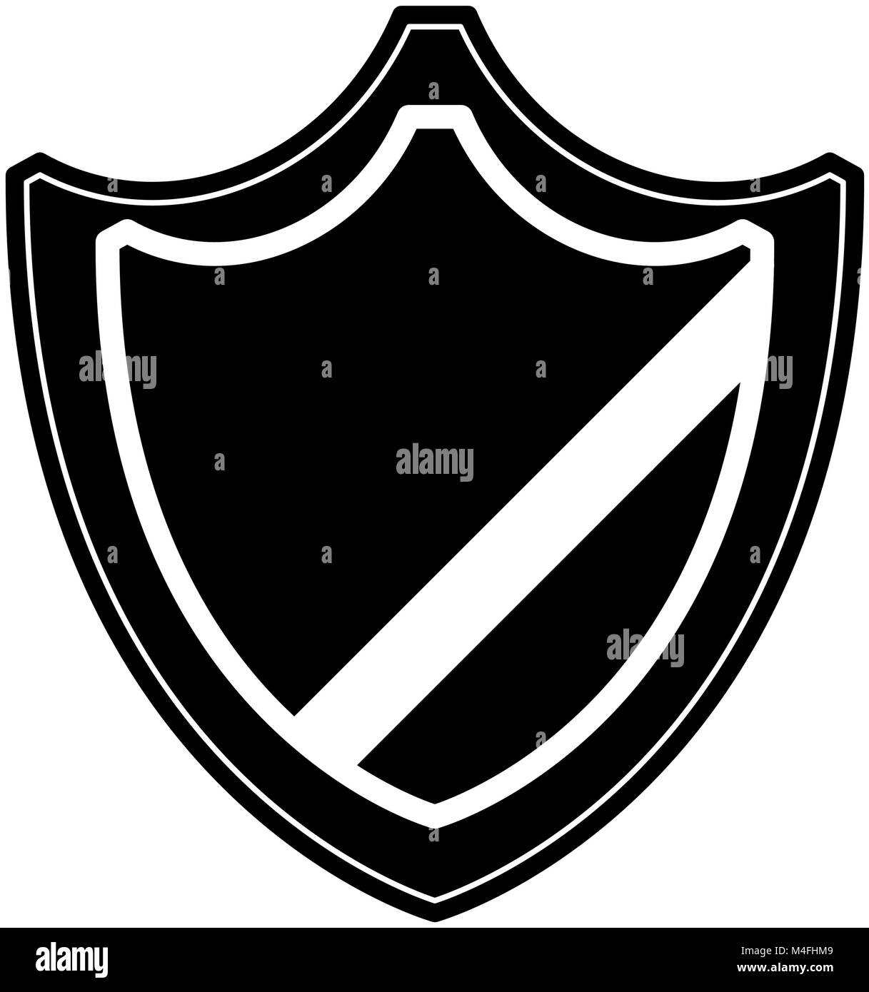 Shield safety icon - Stock Image