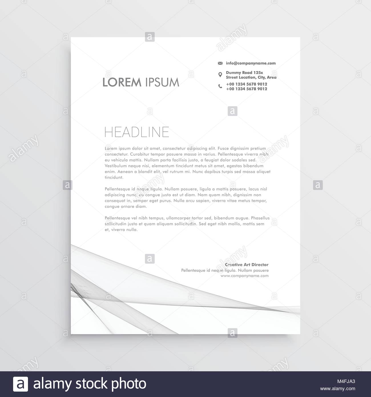 Simple letterhead vector design template stock vector art simple letterhead vector design template spiritdancerdesigns Image collections
