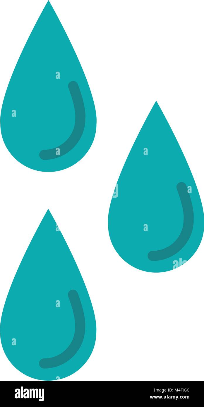 Water drops isolated - Stock Vector