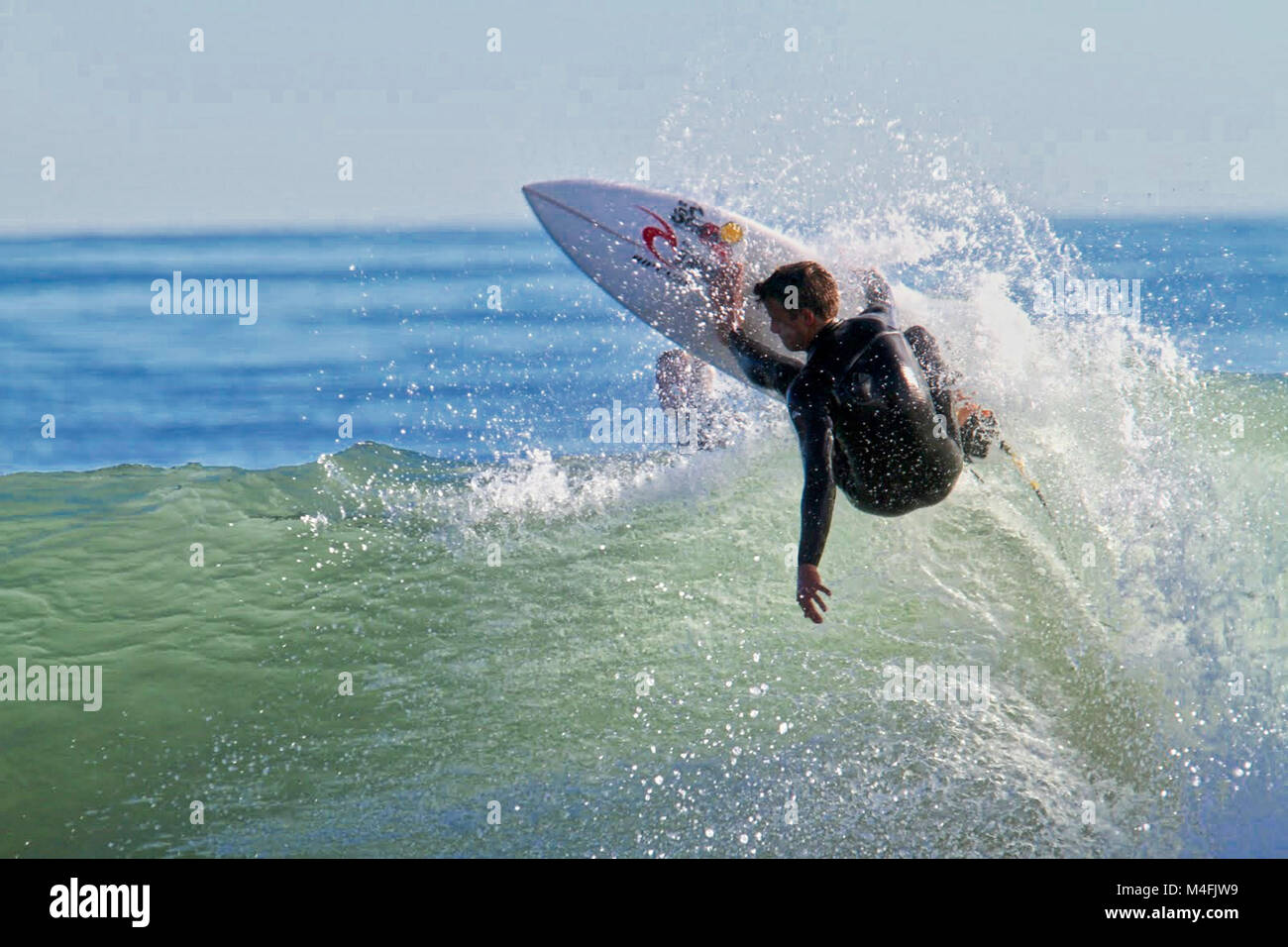Surfing Rincon California - Stock Image